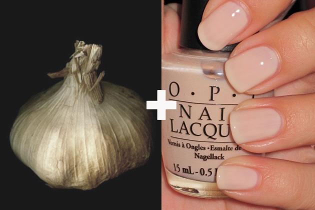 garlic + nail paint