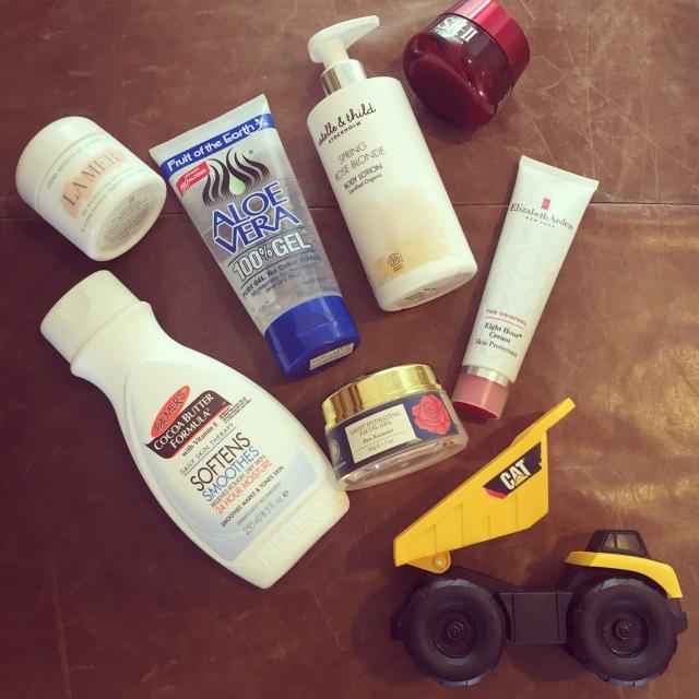 3. truckloads of moisturizer