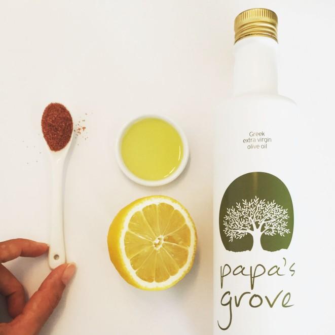 4. olive oil and lemon